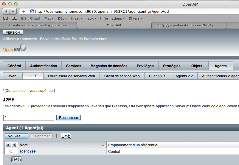 OpenAM - Step 5 - Configuration Agent