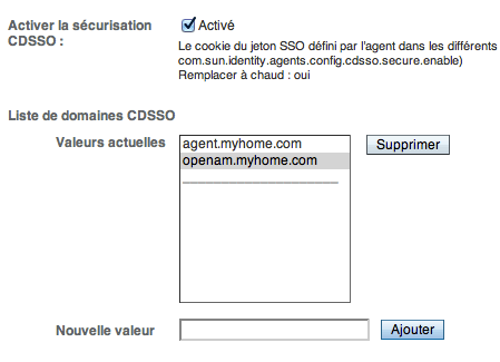 OpenAM - Configuration OpenAM - Configuration Agent - Step 6