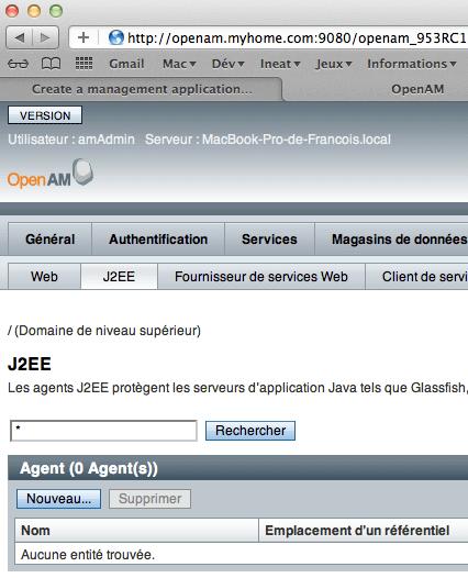 OpenAM - Configuration - Agent - step 3