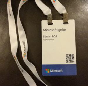 Texte de remplacement généré par une machine: Microsoft Ignite Djavan ROA INEAT Group _ Microsoft