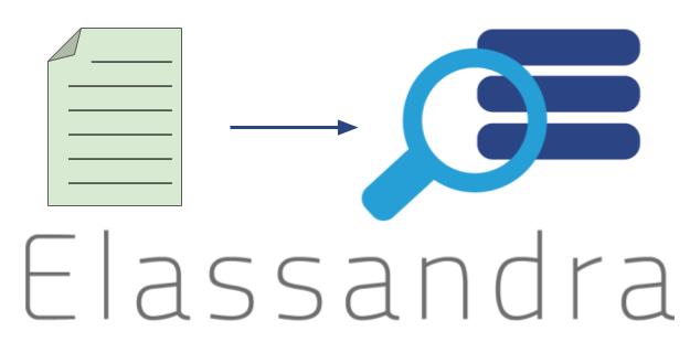 Logo Elassandra réceptionnant un fichier de logs