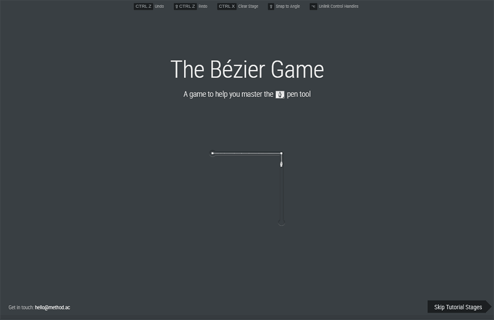 The Bézier game - A game to help you master the pen tool