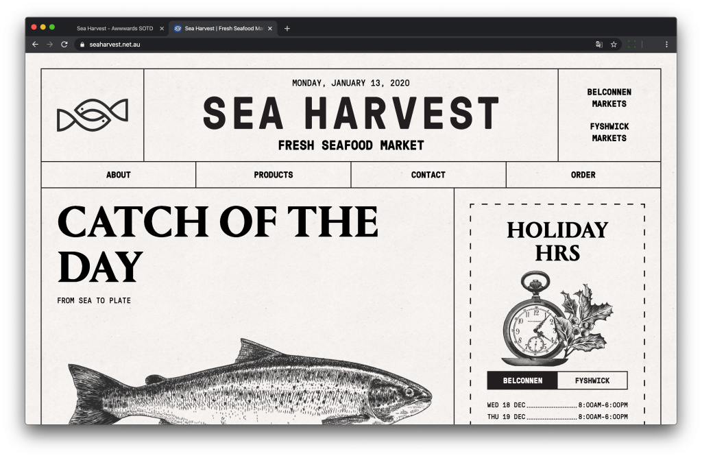 Site web Sea Harvest